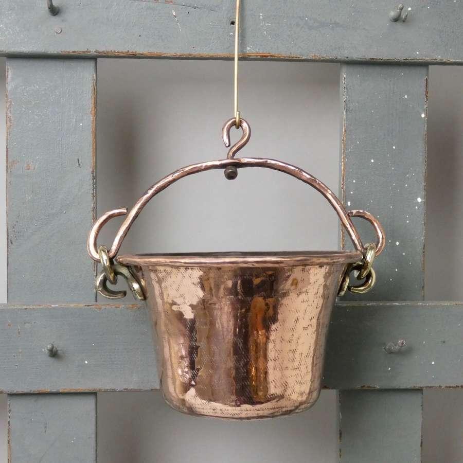 Hanging copper pot