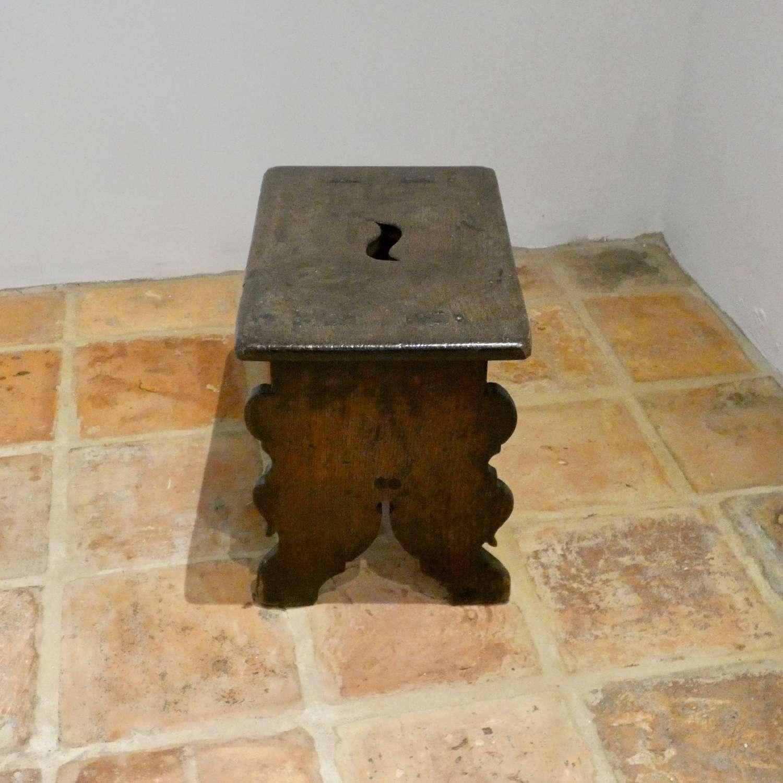 18th century oak trestle stool