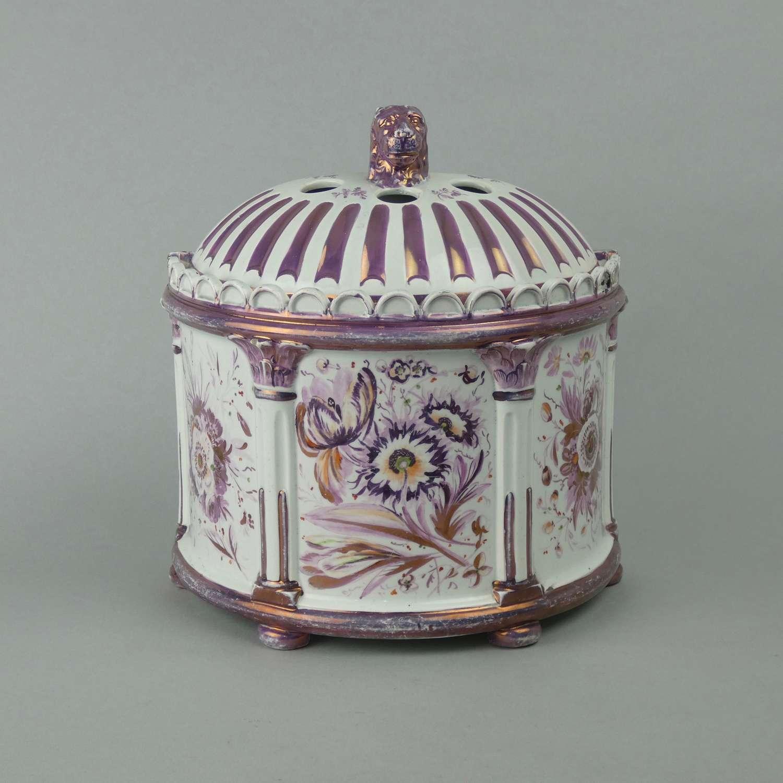 Pink lustre bough pot.