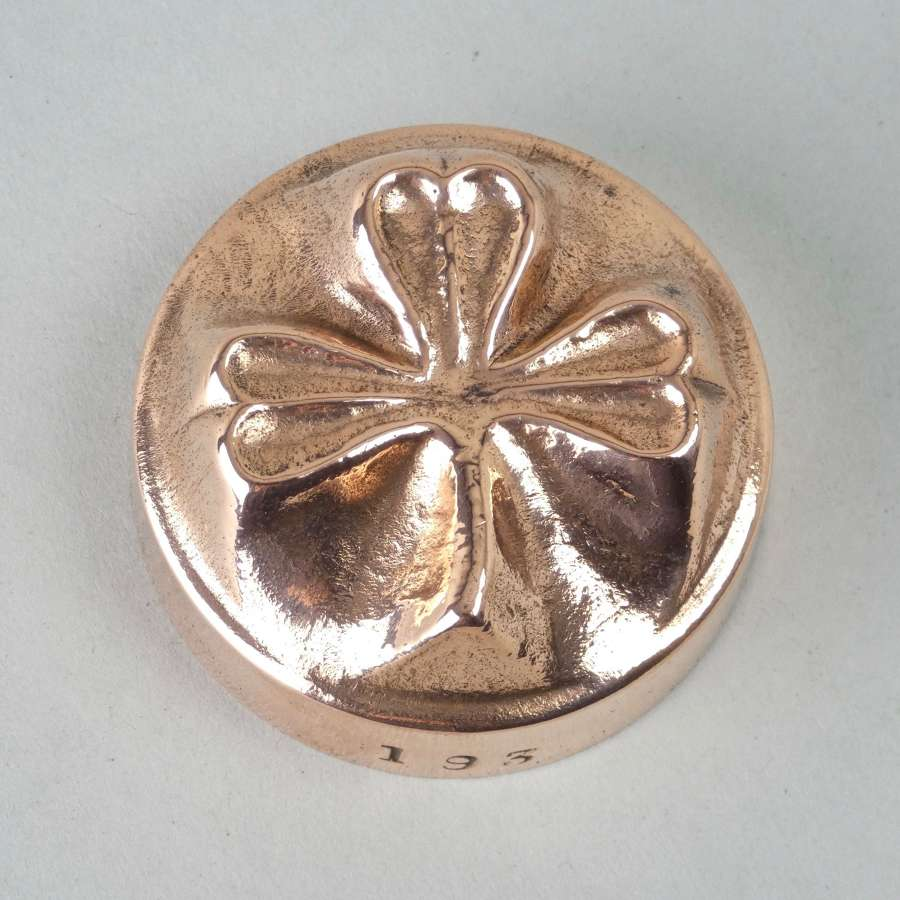 Miniature copper shamrock mould
