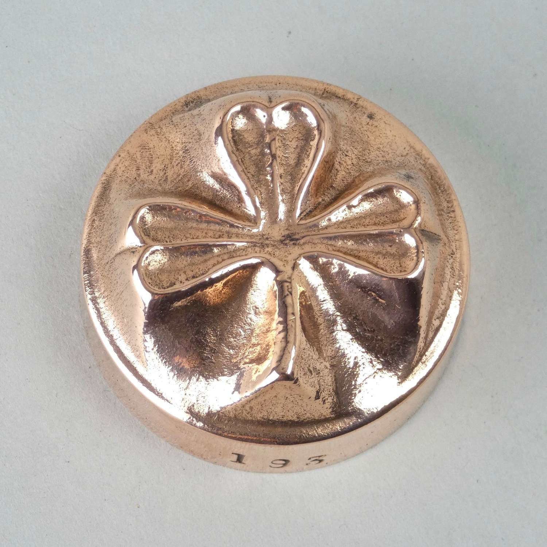 Miniature copper shamrock mould