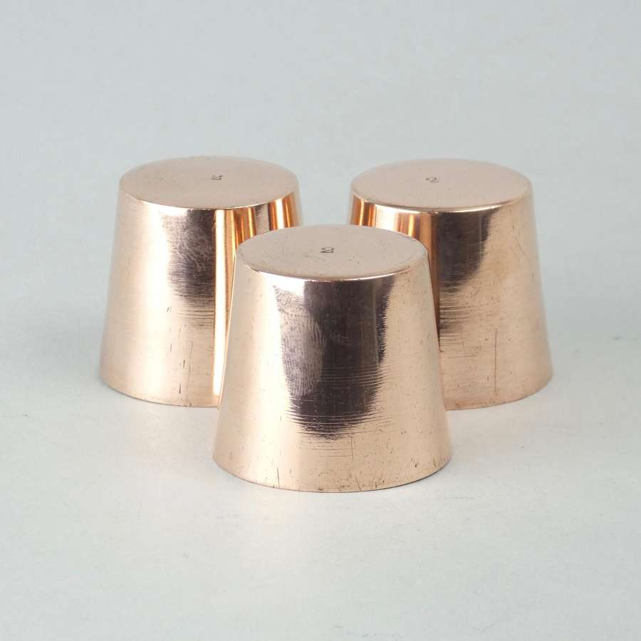 Miniature copper dariole moulds