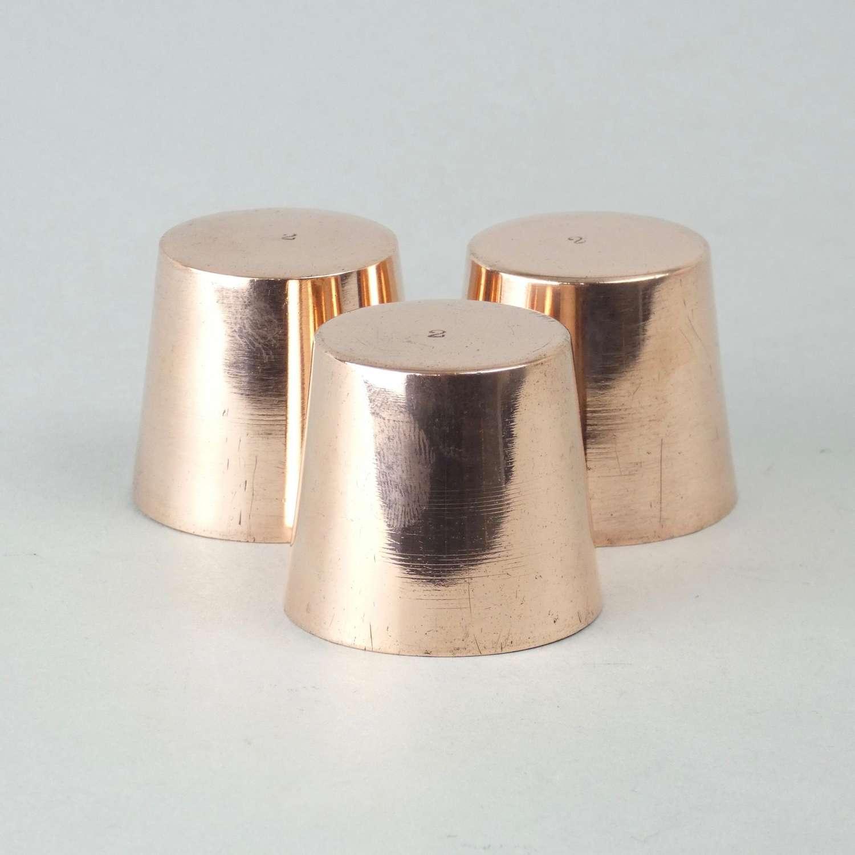 Miniature copper dariole moulds