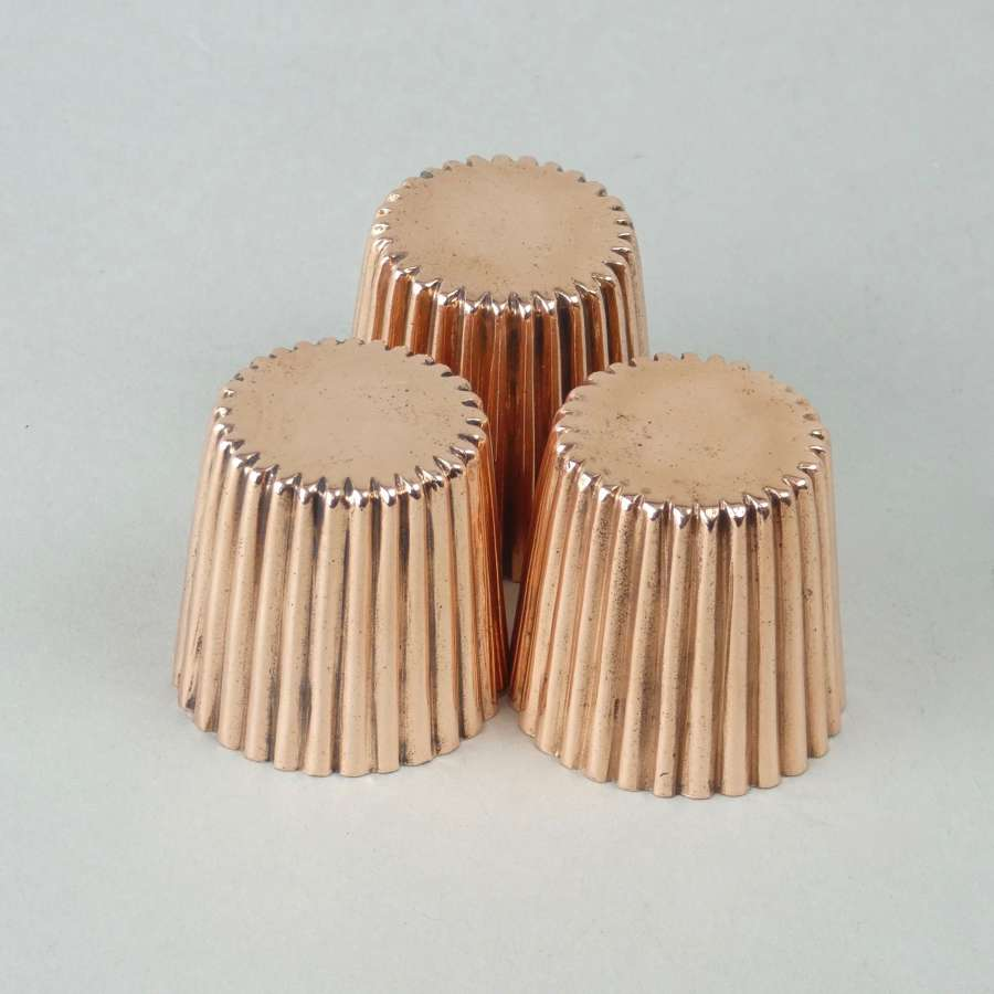 Miniature fluted dariole moulds