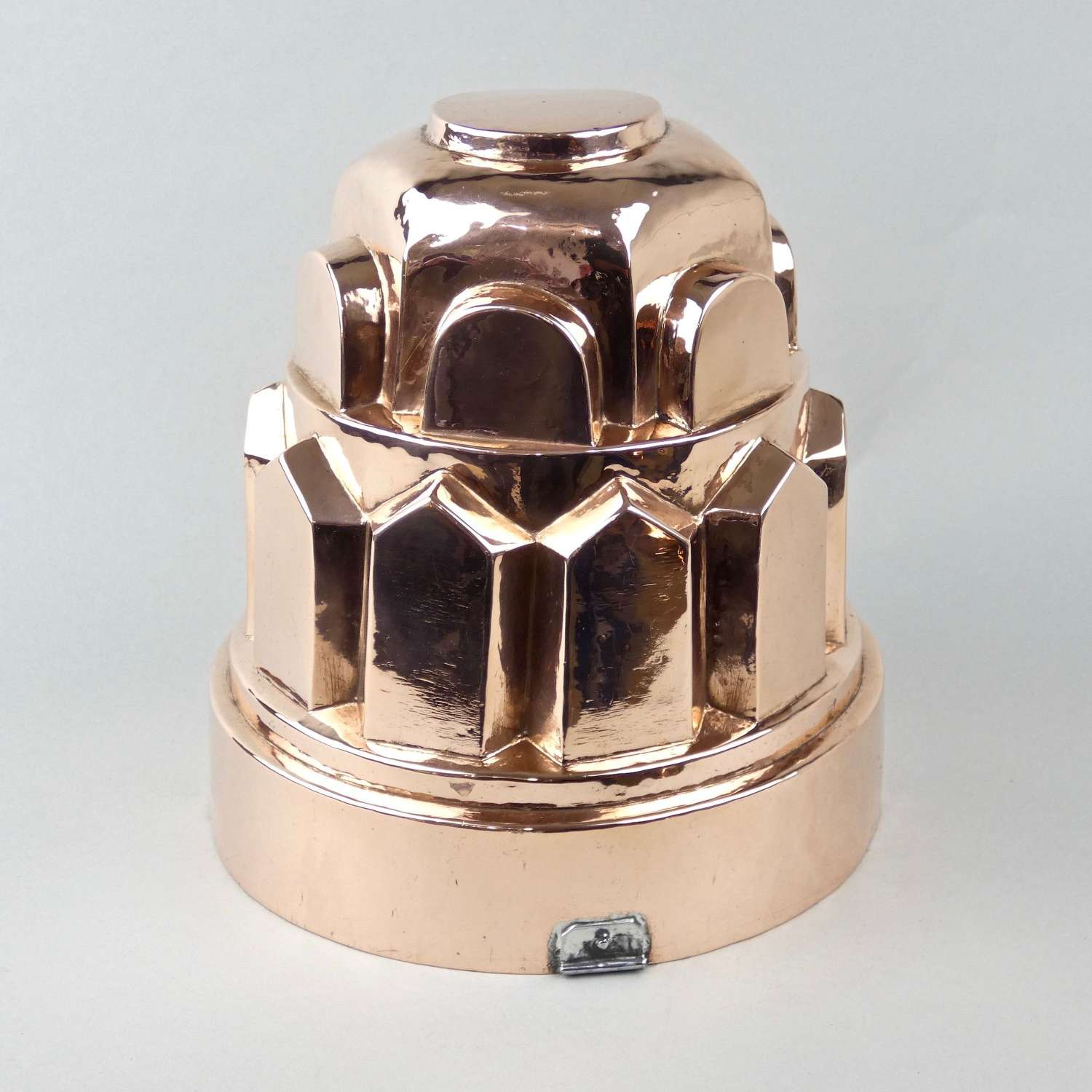 Fancy, French copper cake mould