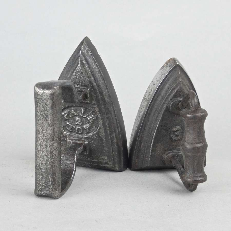 FALK miniature flat iron, plus another
