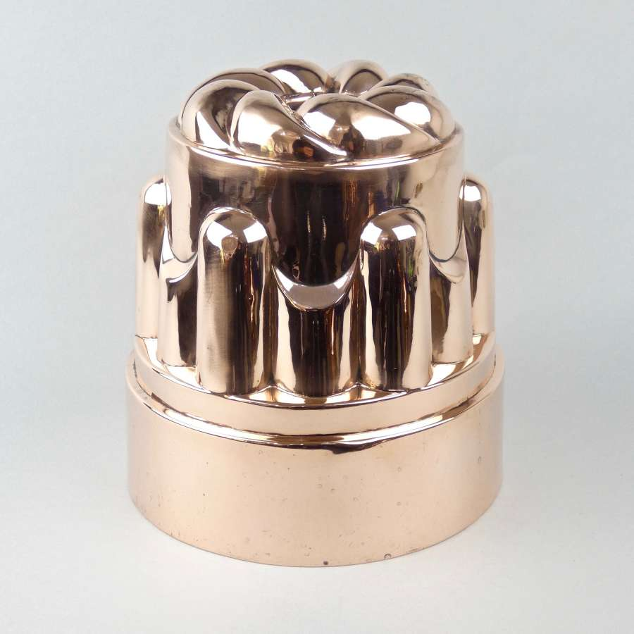 Very large, English copper cake mould
