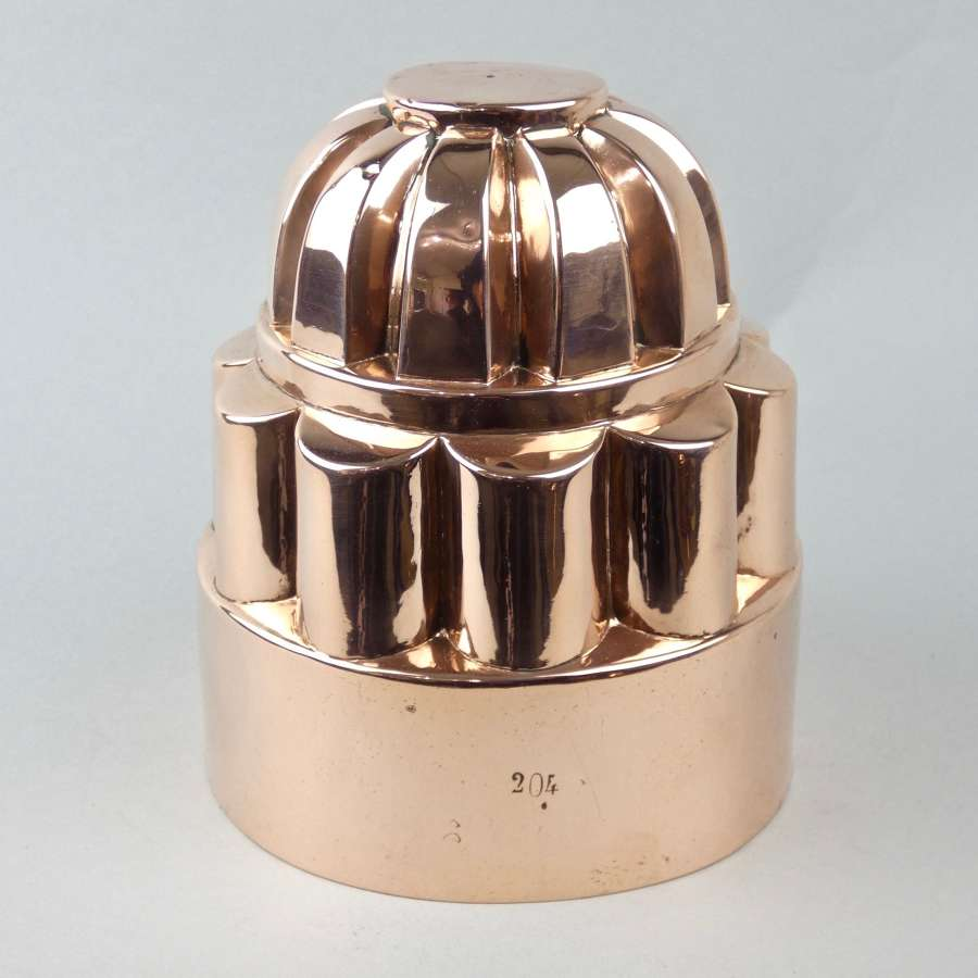 French copper cake mould, pattern no. 204