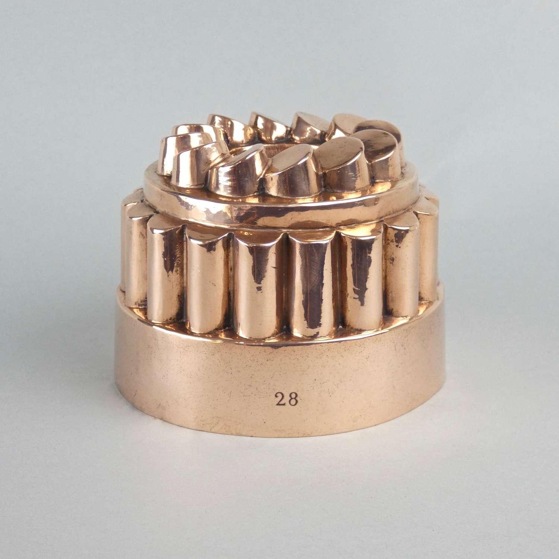Copper pennytop mould
