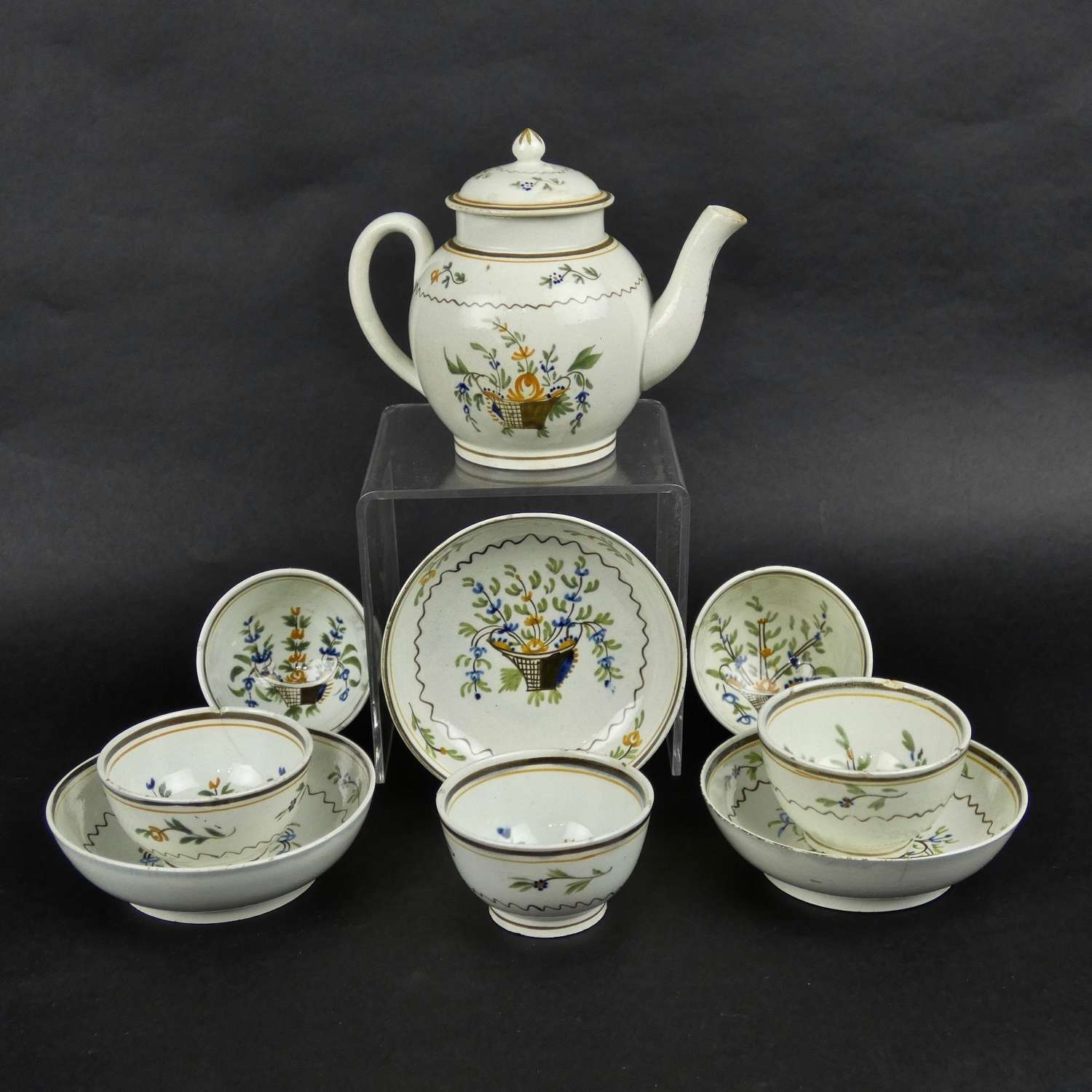 Pearlware child's tea service