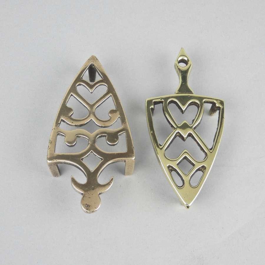Miniature bronze and brass trivets