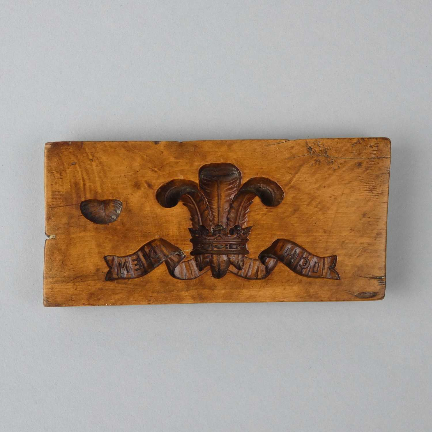 'Prince of Wales feathers' boxwood sugar mould