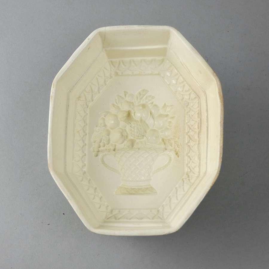 Creamware 'basket of fruit' mould