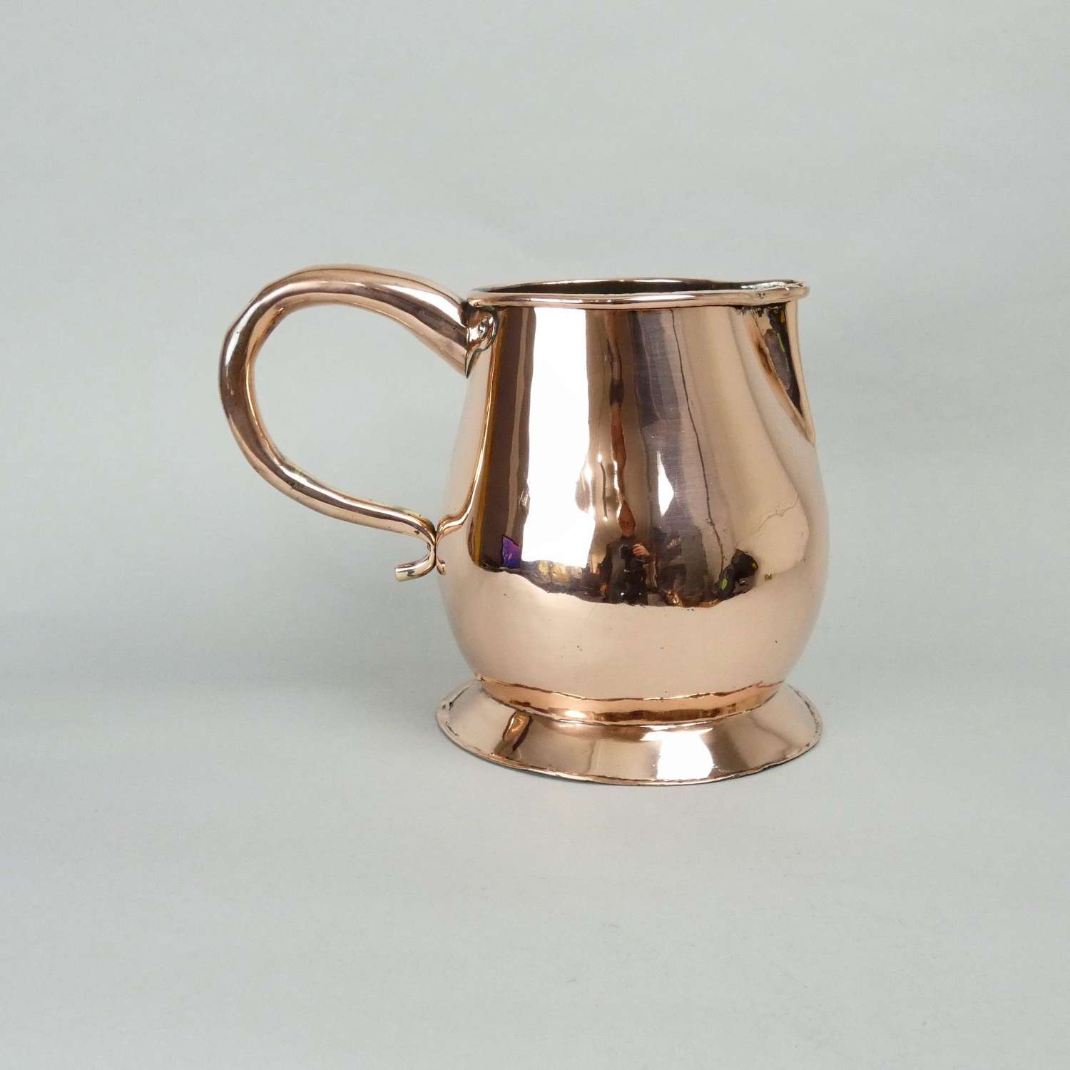 Early 19th cent. copper ale jug