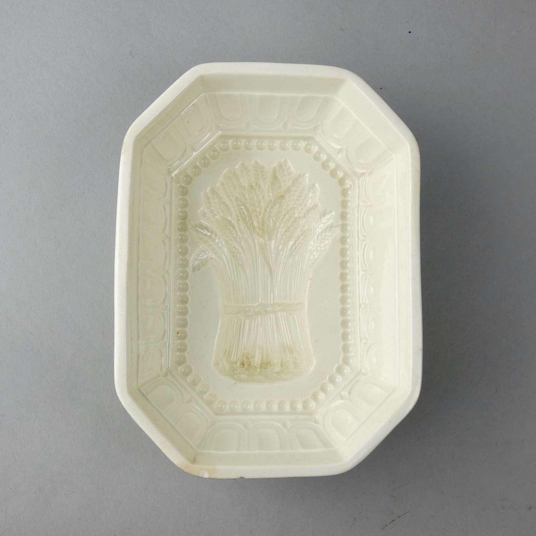 Creamware 'wheatsheaf' mould