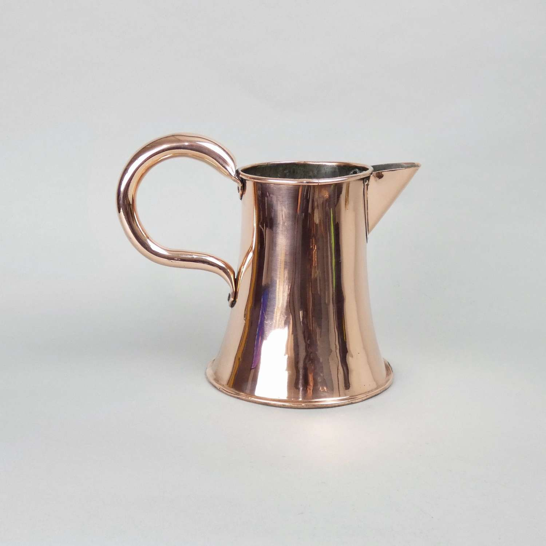 19th century copper ale jug