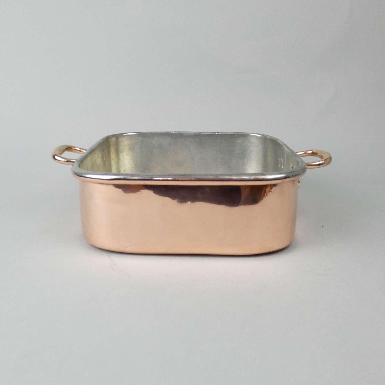 Small copper baking dish