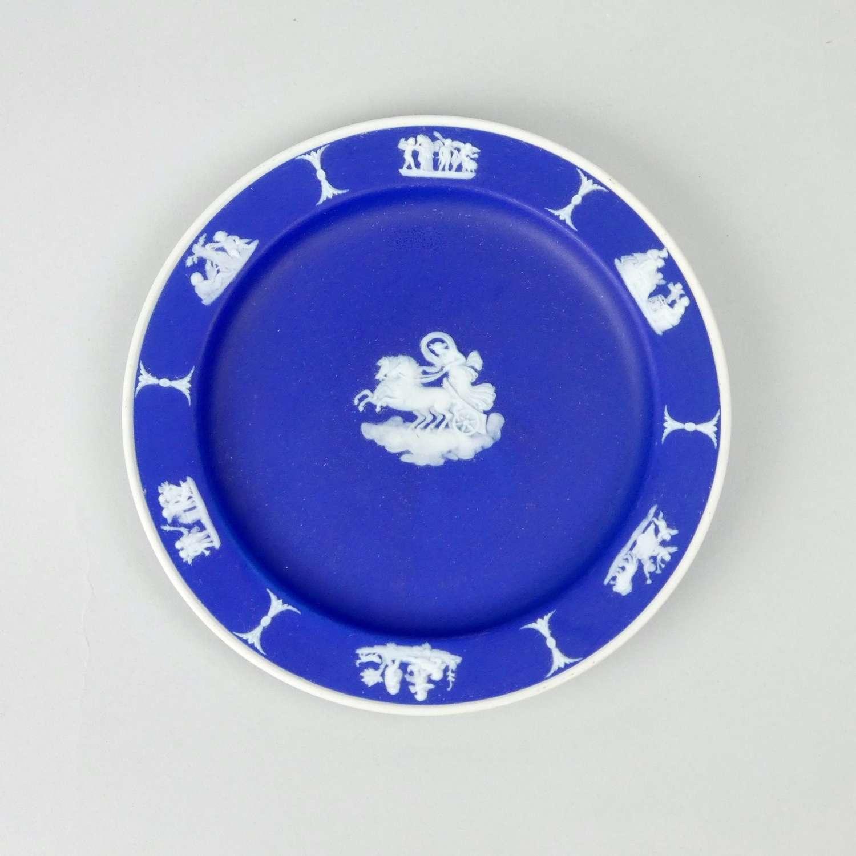 Dark blue jasper plate