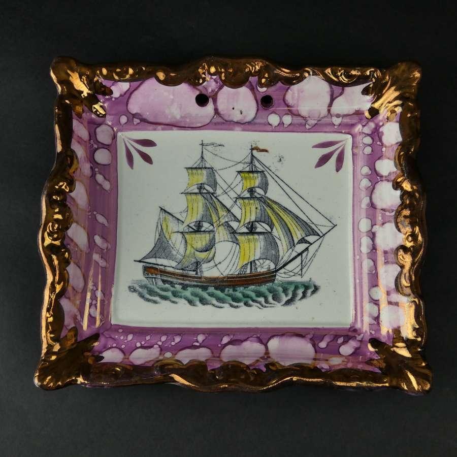 Garrison pottery lustre plaque