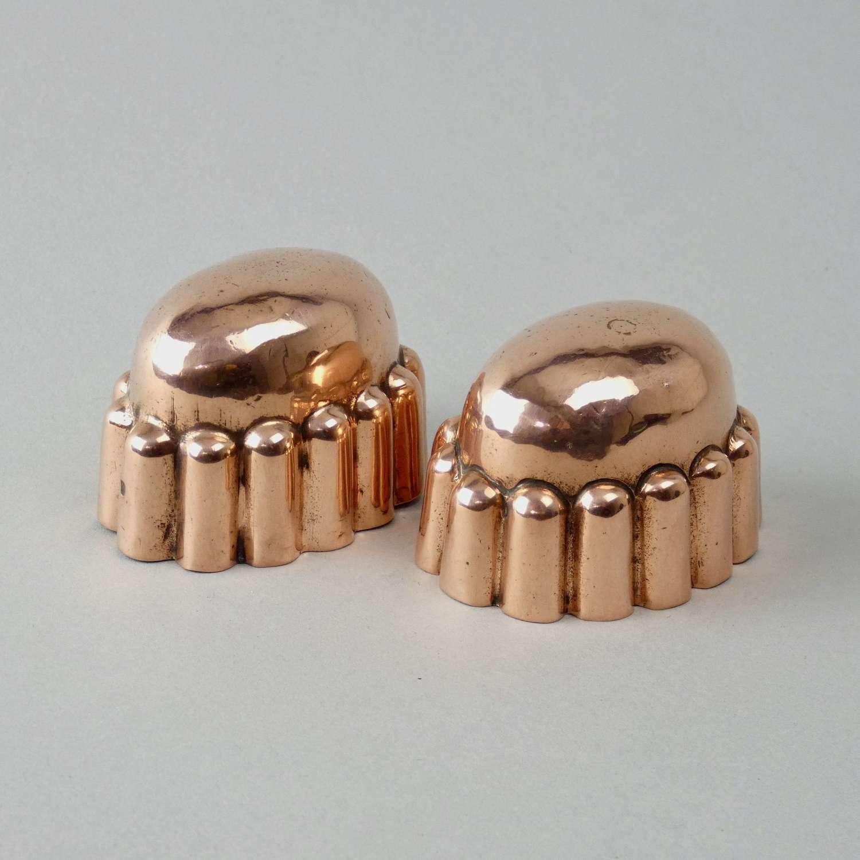 Miniature, dome top copper moulds