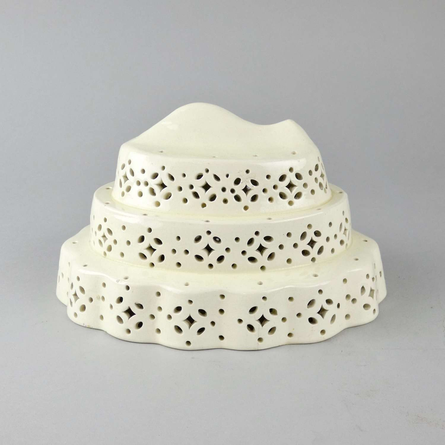 Creamware curd cheese mould