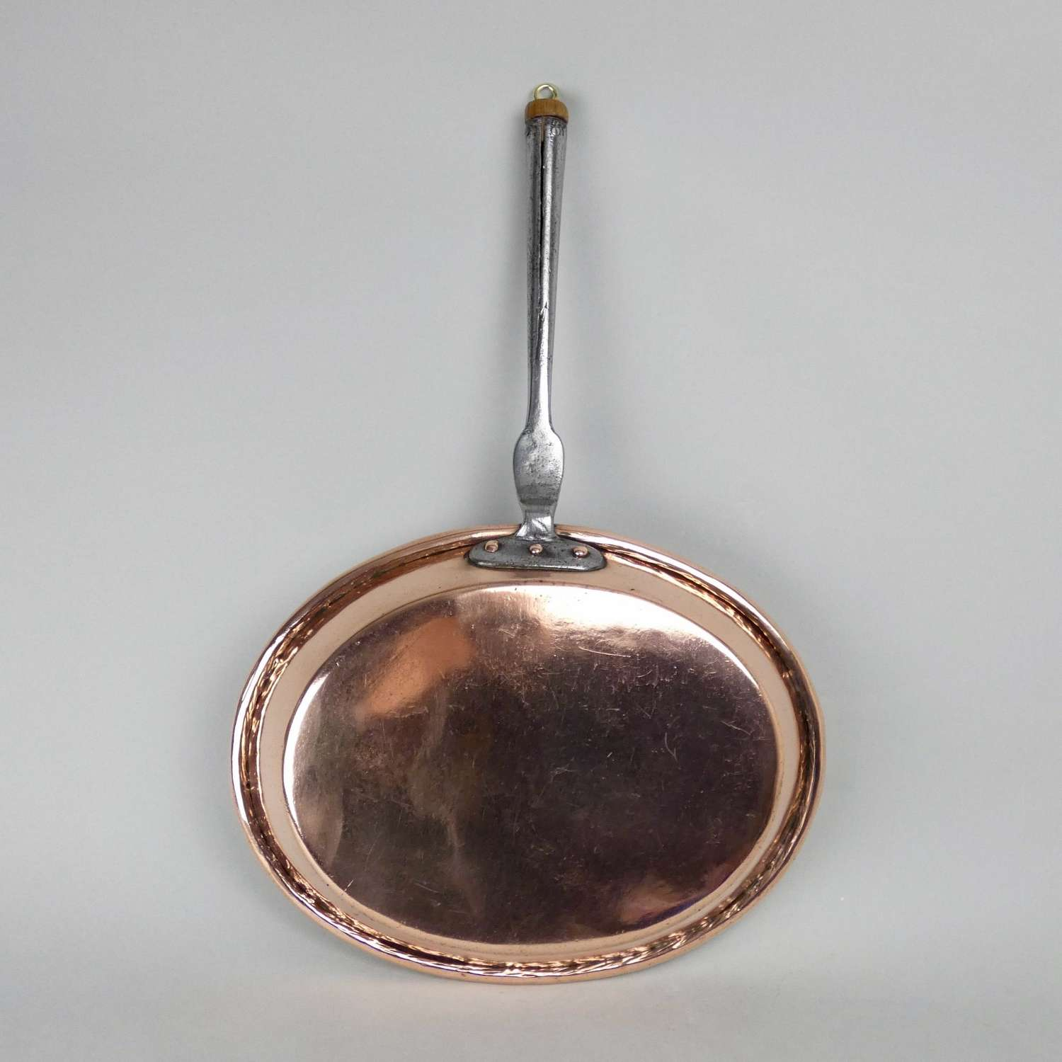 Large copper frying pan