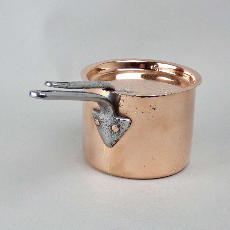Victorian copper saucepan