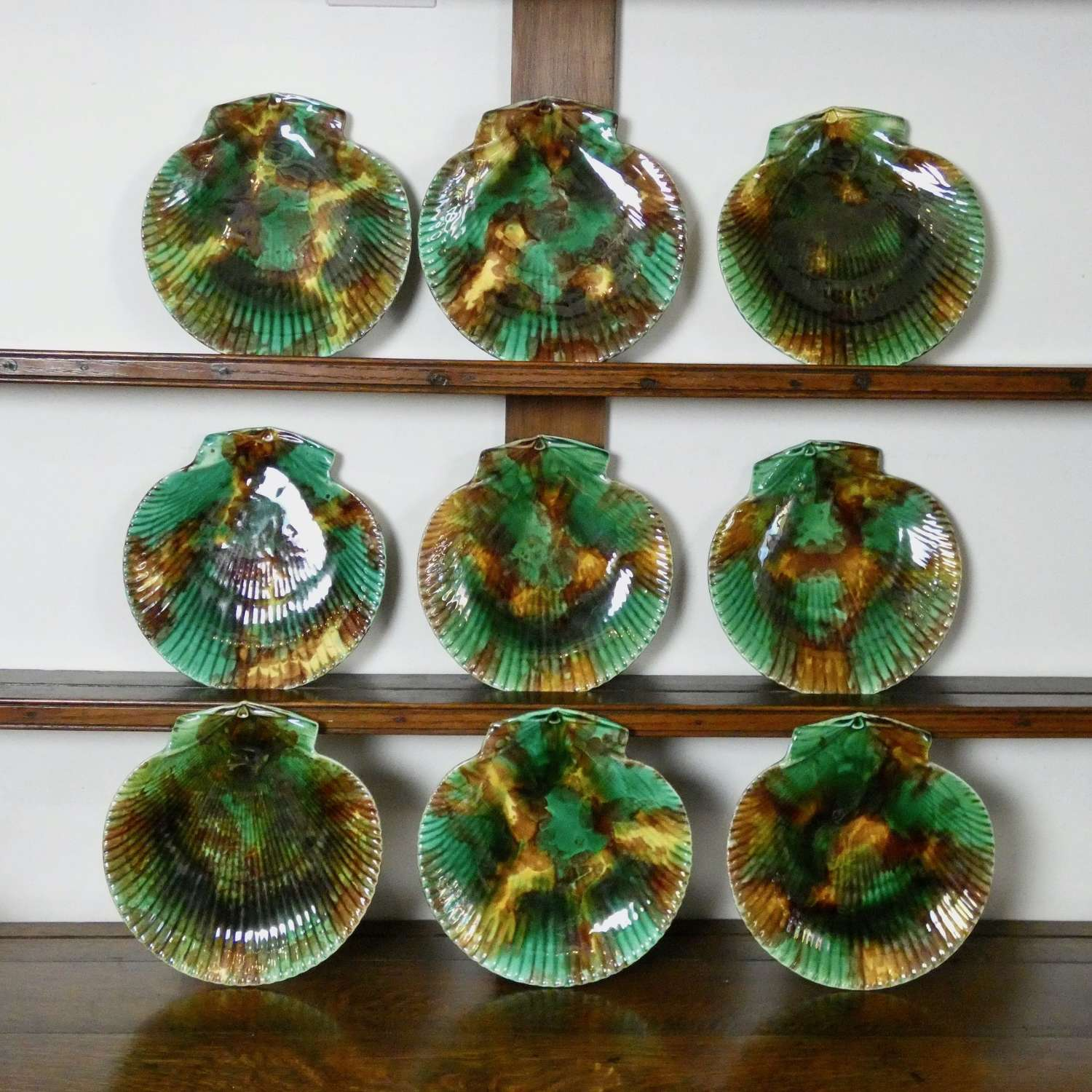 Wedgwood majolica scallop plates