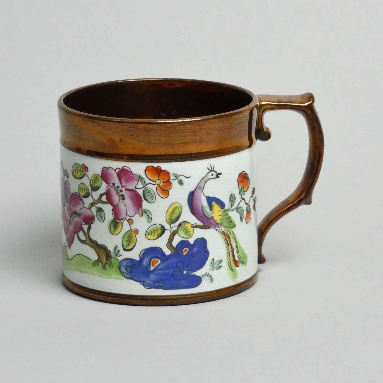 Enamelled lustre mug