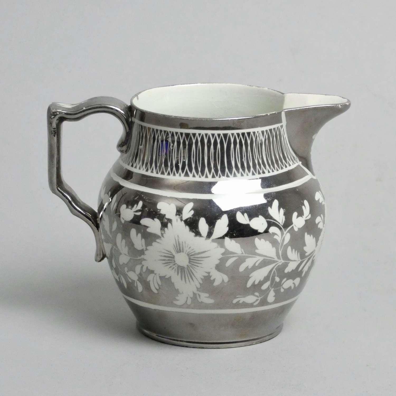 Small silver lustre jug