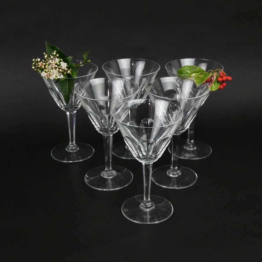Val St. Lambert crystal water glasses