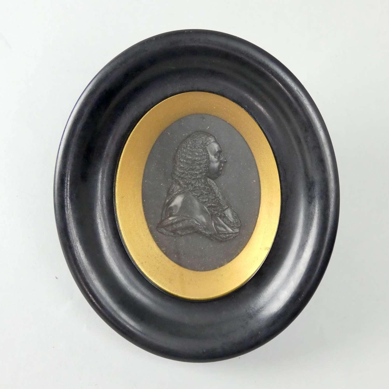 Portrait medallion of Charles Pratt