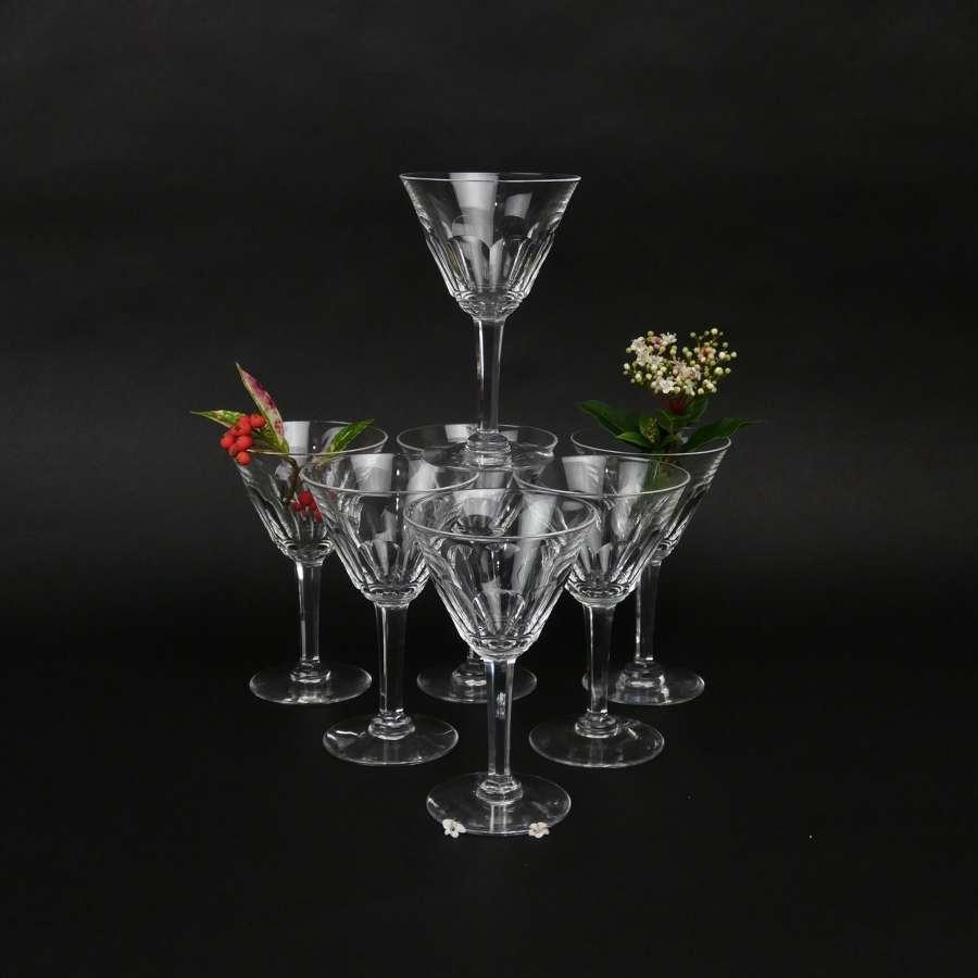 Val St.Lambert crystal wine glasses