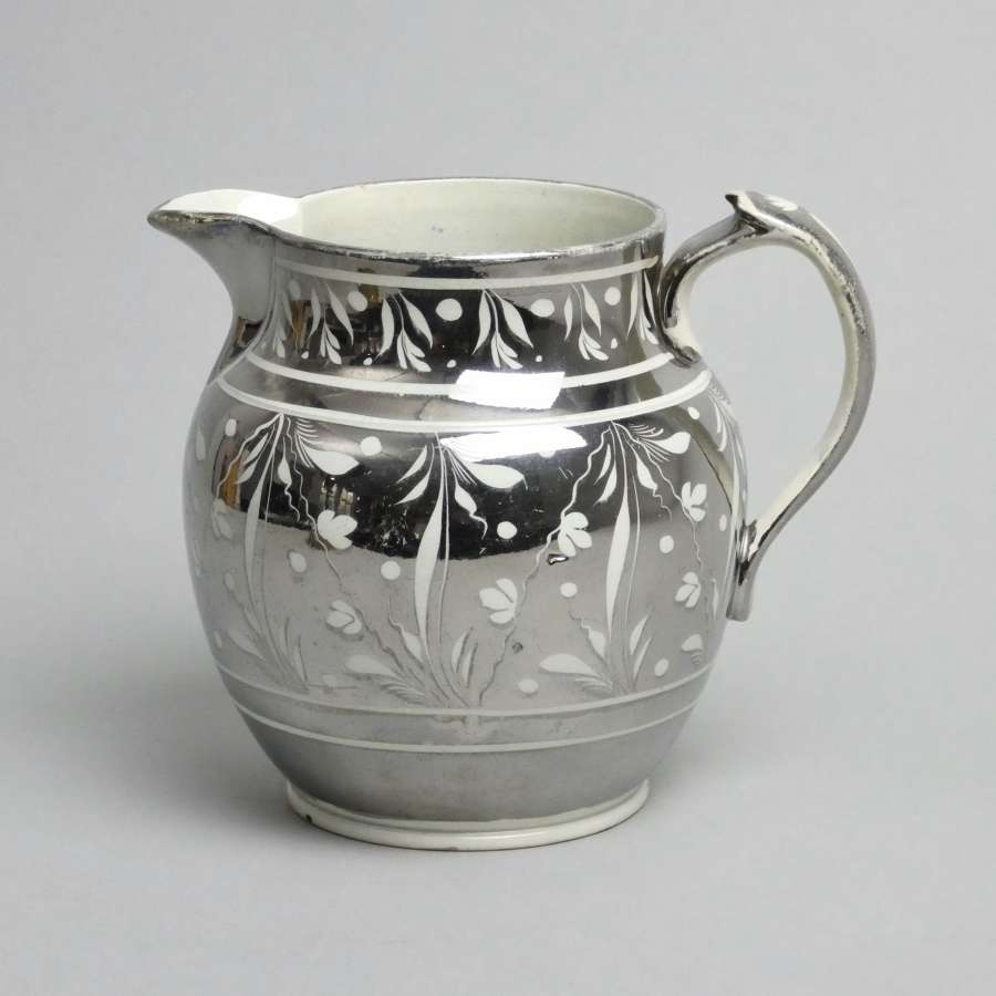 Early 19th cent. silver lustre jug