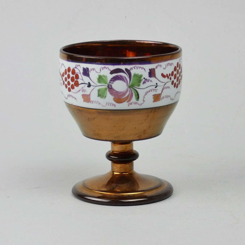 Nice shaped copper lustre goblet