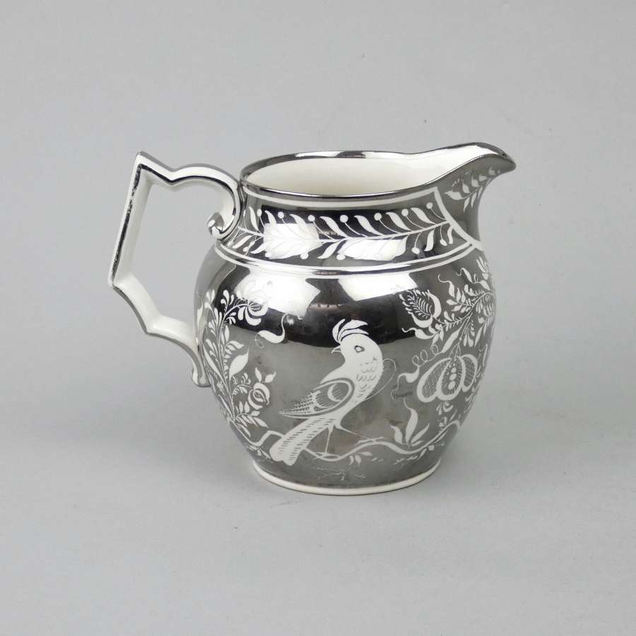 20th cent. silver lustre jug