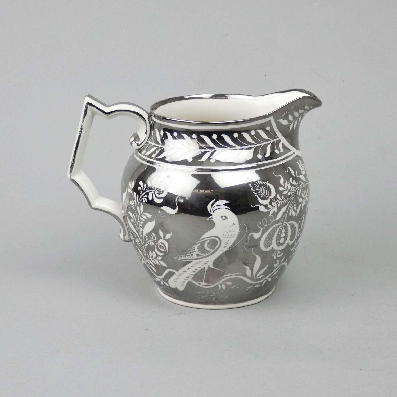 20th cent. silver lustre jug