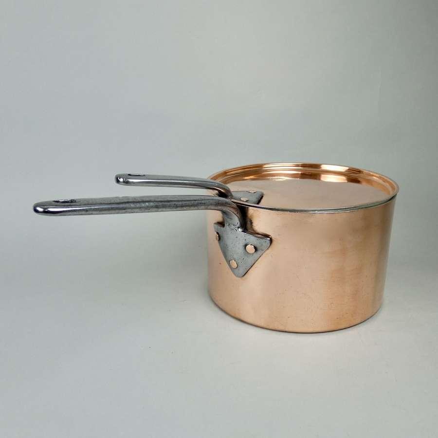 LARGE Victorian copper saucepan