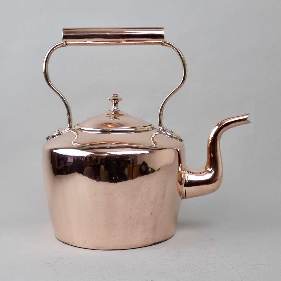 Large Victorian copper kettle