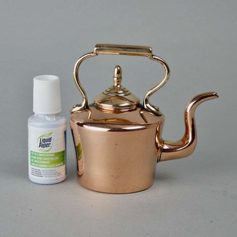 Miniature copper kettle