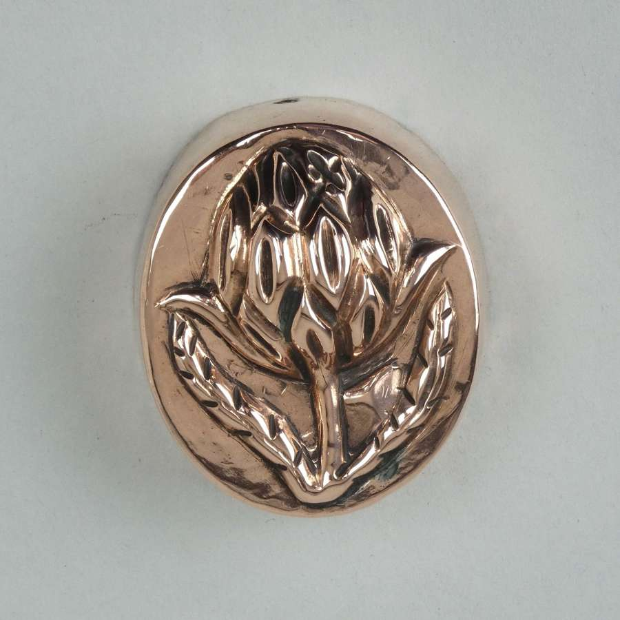 Copper mould with Artichoke top
