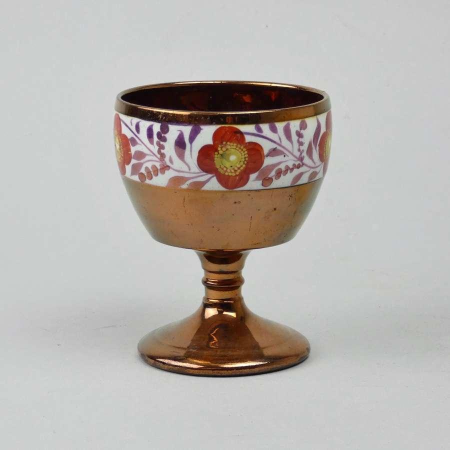 Bright, copper lustre goblet