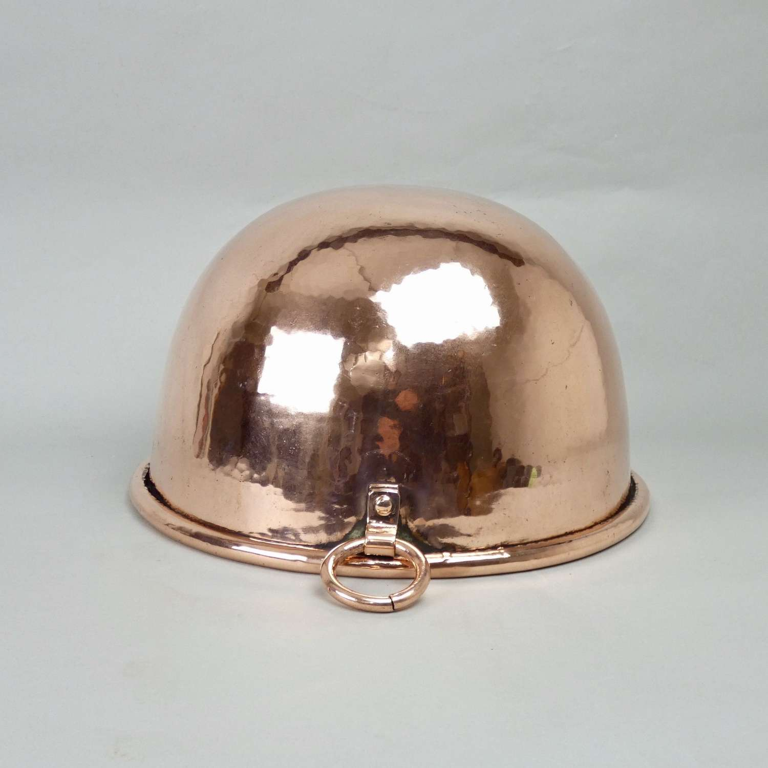 Large copper egg bowl