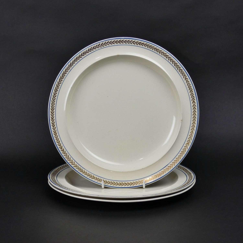 3 Wedgwood creamware plates