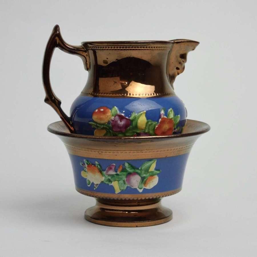 Lustre jug & bowl set