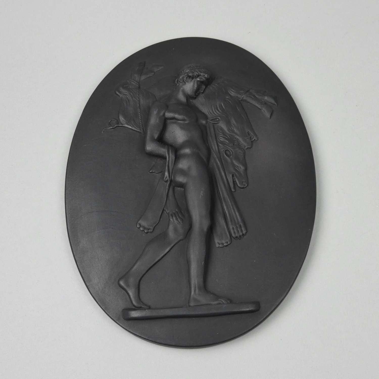 Basalt plaque of Hercules