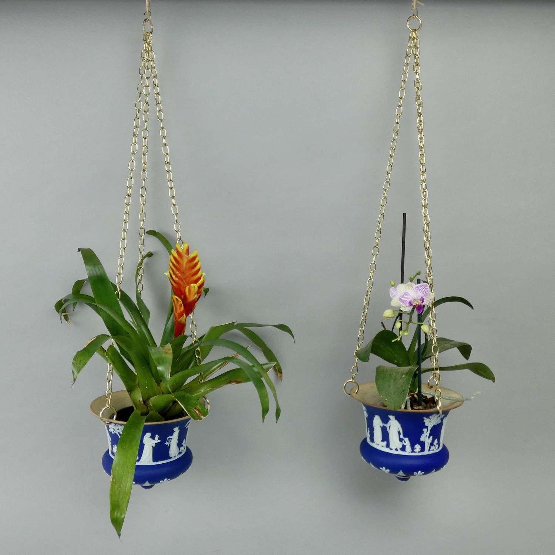 Rare, Wedgwood, hanging jardinieres