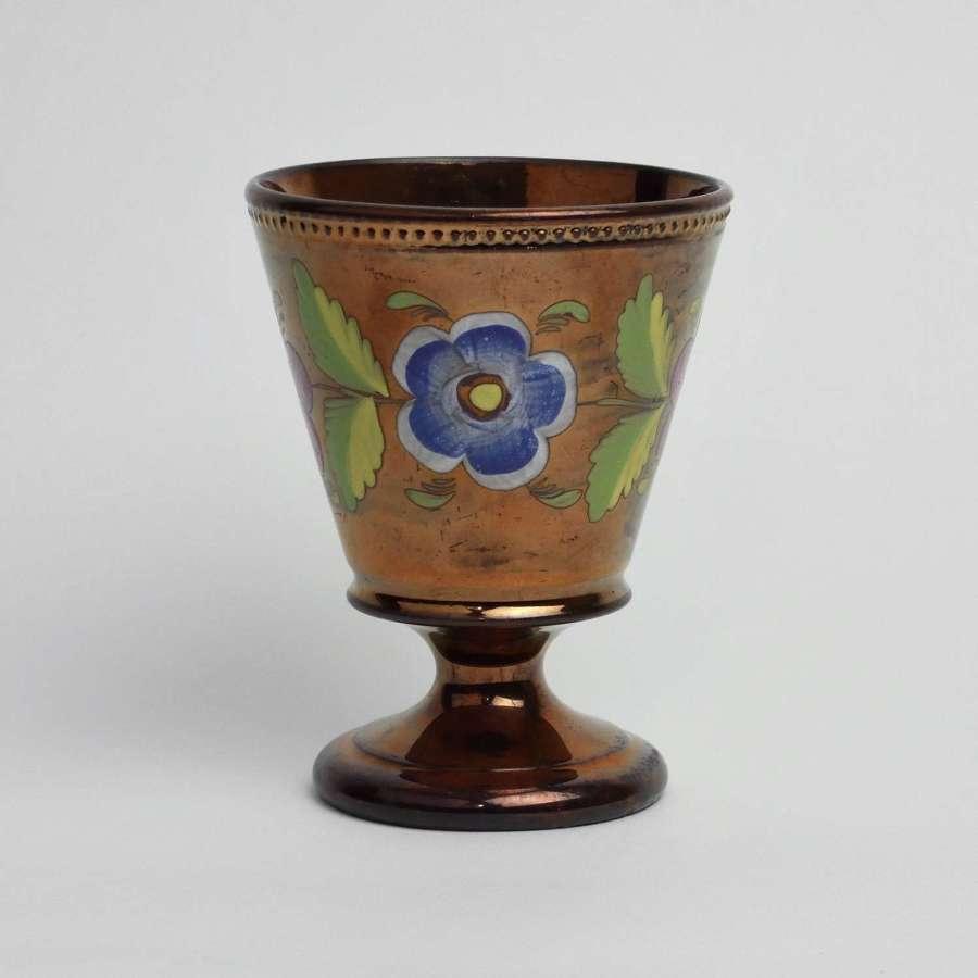 Victorian lustre goblet