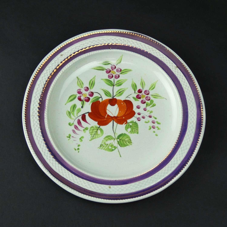 Pink lustre plate