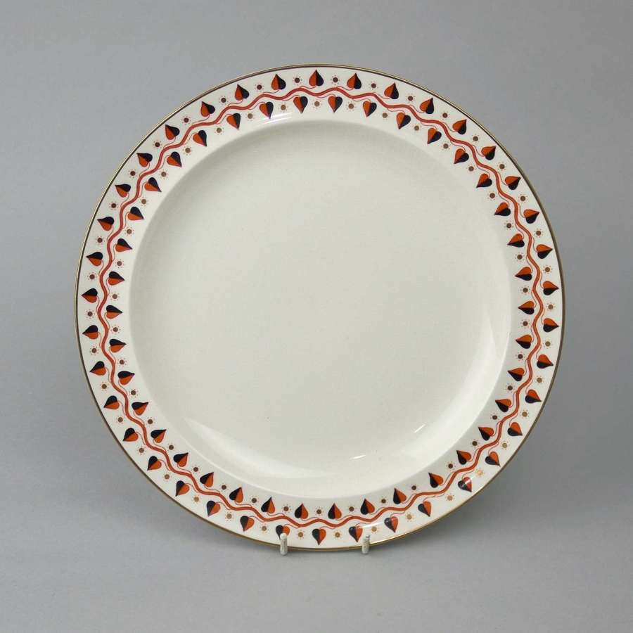 Wedgwood plate with painted and gilt border